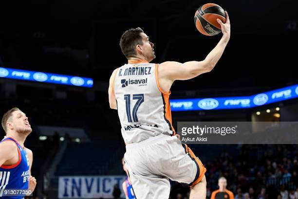 Rafa Martinez #17 of Valencia Basket in action during the 2017/2018 Turkish Airlines EuroLeague Regular Season Round 21 game between Anadolu Efes...