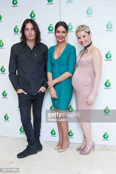 Rafa Mendez Cristina Pedroche and Soraya Arnelas present 'Tu si Que Si' talent show at Atresmedia Studios on January 5 2017 in Madrid Spain