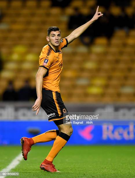 Rafa Mir of Wolverhampton Wanderers during The Emirates FA Cup Third Round match between Wolverhampton Wanderers and Swansea City at Molineux on...