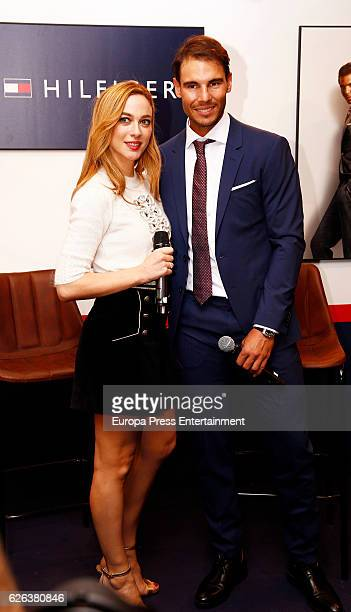 Rafa Nadal and Marta Hazas attend the 'Tommy Hulfiger' photocall as second year ambassador of the brand at El Corte Ingles store on November 28 2016...