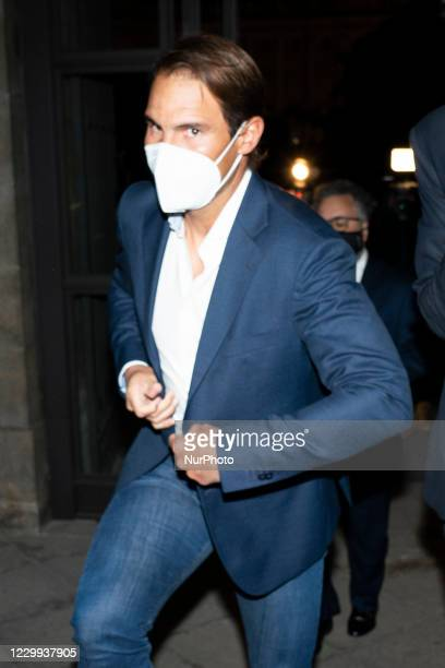 Rafa Nadal arrival at the As del Deporte awards during the 14th edition of the AS del Deporte Awards Gala at the Teatro Real in Madrid, Spain, on...