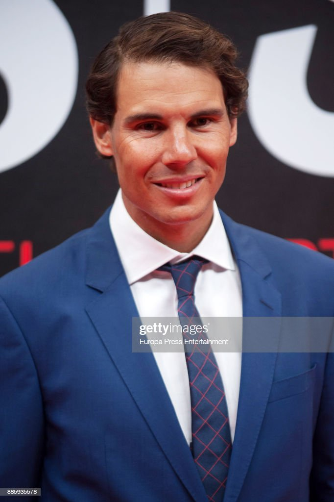 Rafa Nadal attends the 'As del Deporte' and 'As' sports newspaper 50th anniversary dinner at the Palacio de Cibeles on December 4, 2017 in Madrid, Spain.