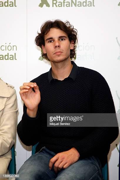 Rafa Nadal attends the presentation Integracion y Deporte on December 14 2011 in Barcelona Spain