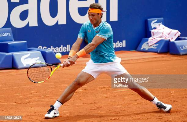 Rafa Nadal during the match against David Ferrer corresponding to the 1/8 of final of the Barcelona Open Banc Sabadell tournament on 25th April 2019...