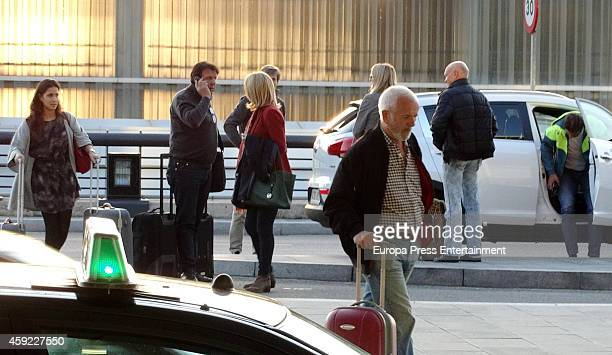 Rafa Nadal his girlfriend Xisca Perello and his parents Sebastian Nadal and Ana Maria Parera are seen on November 5 2014 in Barcelona Spain