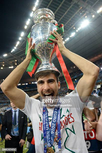 Rafa Silva of Portugal celebrates with the trophy after the UEFA EURO 2016 Final match between Portugal and France at Stade de France on July 10 2016...