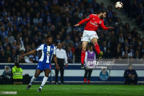 Rafa Silva of SL Benfica heads the ball away during the Liga NOS match between FC Porto and SL Benfica at Estadio do Dragao on March 2 2019 in Porto...