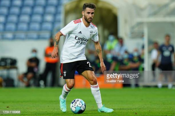 Rafa Silva of SL Benfica in action during the Pre-Season Friendly match between SL Benfica and Lille at Estadio Algarve on July 22, 2021 in Loule,...