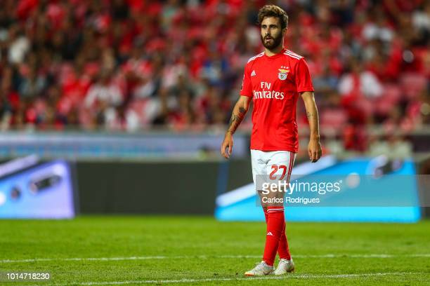 Rafa Silva of SL Benfica looks on during the Liga NOS match between SL Benfica and Vitoria SC at Estadio da Luz on August 10 2018 in Lisbon Portugal