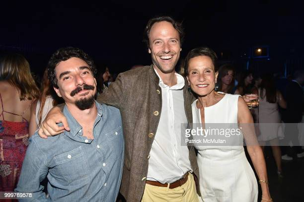Rafael Alonso Alex MacDonald and Christina MacDonald attend the Parrish Art Museum Midsummer Party 2018 at Parrish Art Museum on July 14 2018 in...