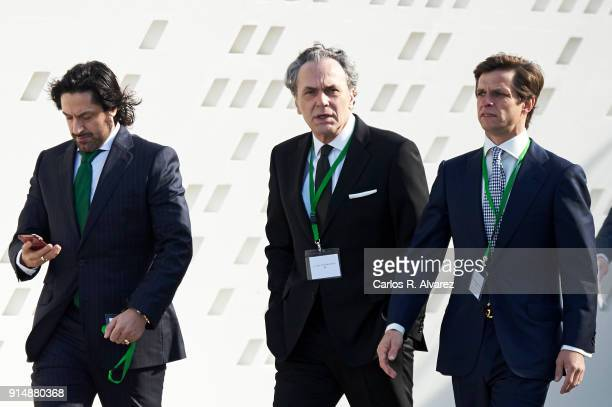 Rafael Amargo actor Jose Coronado and Jualian Lopez 'El Juli' attend the Gold Medals of Merit in Fine Arts 2016 ceremony at the Pompidou Center on...
