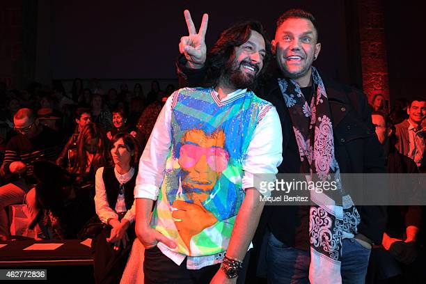 Rafael Amargo and Nacho Vidal attend the Custo Barcelona collection at the '080 Barcelona Fashion Week 2015 Fall/Winter' at the Museu Maritim of...