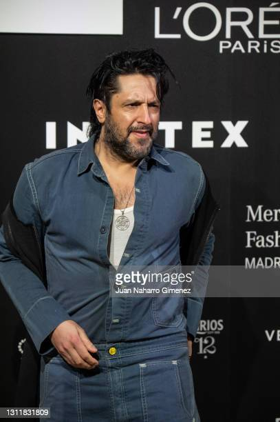 Rafael Amargo attends Maison Mesa fashion show during the Merecedes Benz Fashion Week April 2021 edition at Ifema on April 10, 2021 in Madrid, Spain.