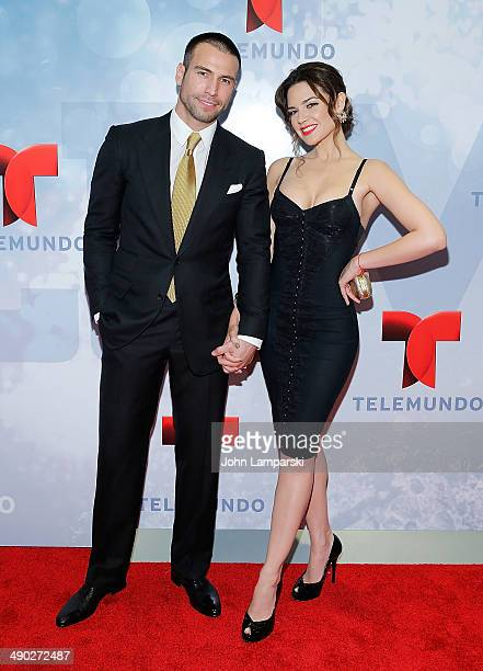 Rafael Amaya and Angelica Celaya attend the 2014 Telemundo Upfront at Frederick P Rose Hall Jazz at Lincoln Center on May 13 2014 in New York City