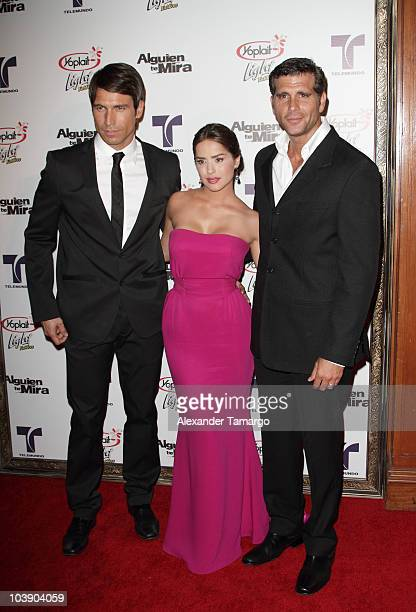 Rafael Amaya Danna Garcia and Christian Meier attend screening of Telemundo's Alguien Te Mira at The Biltmore Hotel on September 7 2010 in Coral...