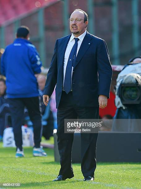 Rafael Benitez head coach of Napoli during the Serie A match between SSC Napoli and Empoli FC at Stadio San Paolo on December 7 2014 in Naples Italy
