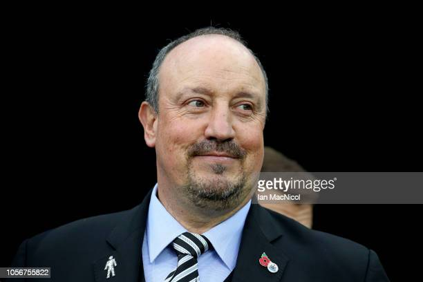 Rafael Benitez Manager of Newcastle United looks on during the Premier League match between Newcastle United and Watford FC at St James Park on...