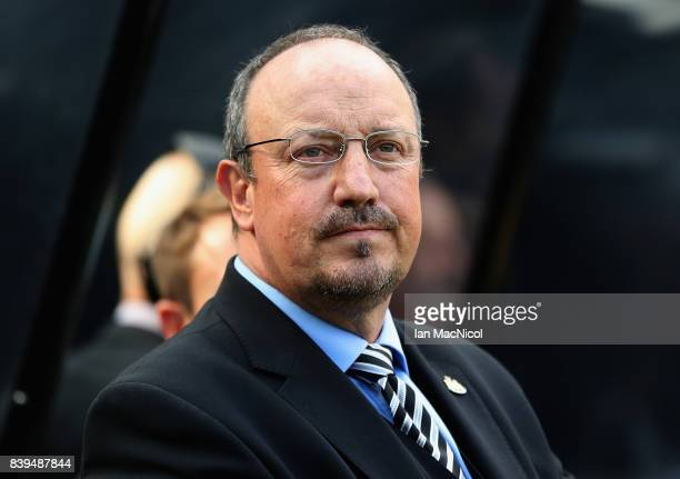 Rafael Benitez Manager of Newcastle United looks on prior to the Premier League match between Newcastle United and West Ham United at St James Park...