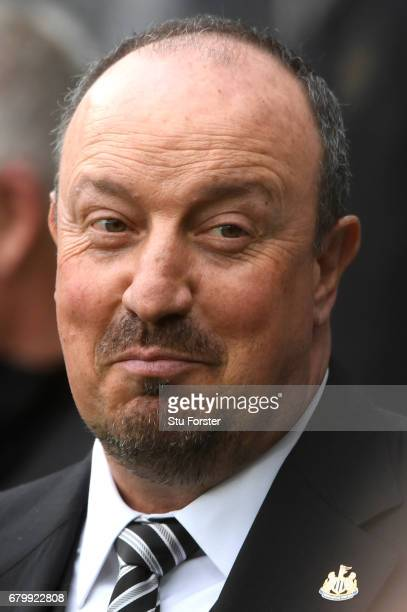 Rafael Benitez Manager of Newcastle United looks on prior to the Sky Bet Championship match between Newcastle United and Barnsley at St James' Park...