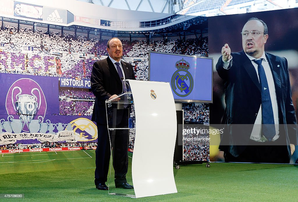 Rafael Benitez Unveiled as the New Manager of Real Madrid : News Photo