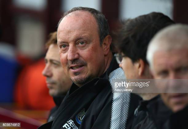Rafael Benitez the manager of Newcastle United looks on during a preseason friendly match between Bradford City and Newcastle United at Northern...
