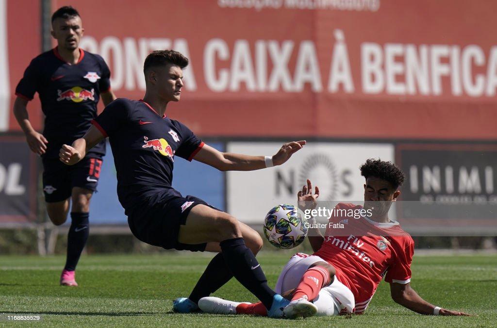 SL Benfica v RB Leipzig - UEFA Youth League - Group G : News Photo