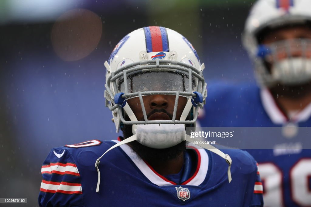 Rafael Bush #20 of the Buffalo Bills stands on the field prior to the game against the Baltimore Ravens at M&T Bank Stadium on September 9, 2018 in Baltimore, Maryland.