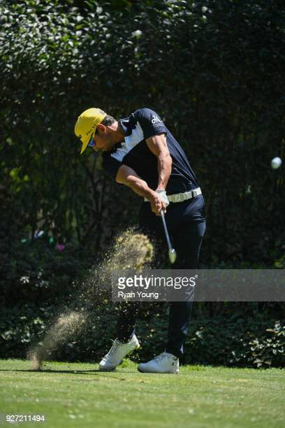 Rafael CabreraBello of Spain plays his shot from the third tee during the final round of the World Golf ChampionshipsMexico Championship at Club de...