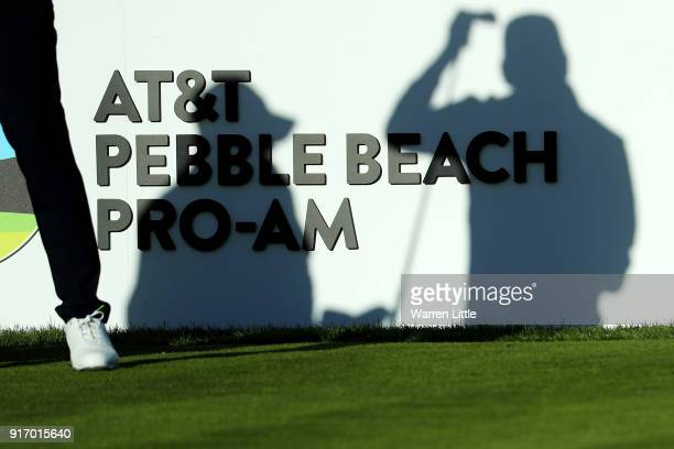 Rafael CabreraBello of Spain prepares to play his shot from the fourth tee during the Final Round of the ATT Pebble Beach ProAm at Pebble Beach Golf...