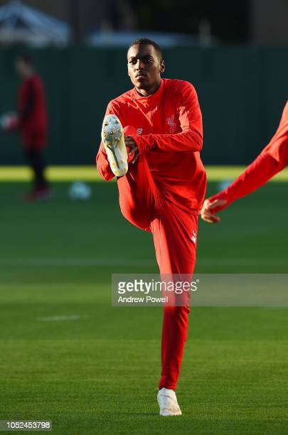 Rafael Camacho of Liverpool during a training session at Melwood Training Ground on October 18 2018 in Liverpool England