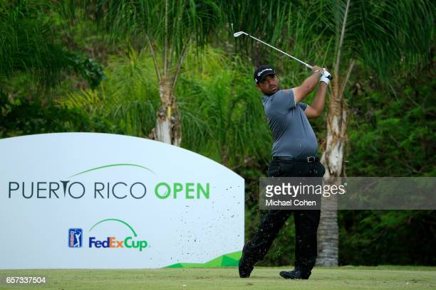 Rafael Campos of Puerto Rico plays his tee shot on the 11th hole during the second round of the Puerto Rico Open at Coco Beach on March 24 2017 in...