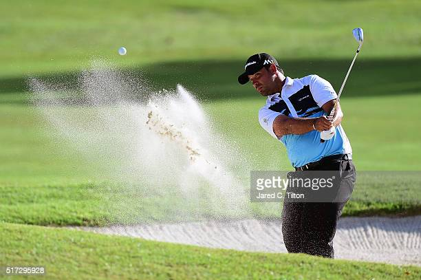 Rafael Campos of Puerto Rico plays his third shot from the bunker on the 15th hole during the first round of the Puerto Rico Open at Coco Beach on...