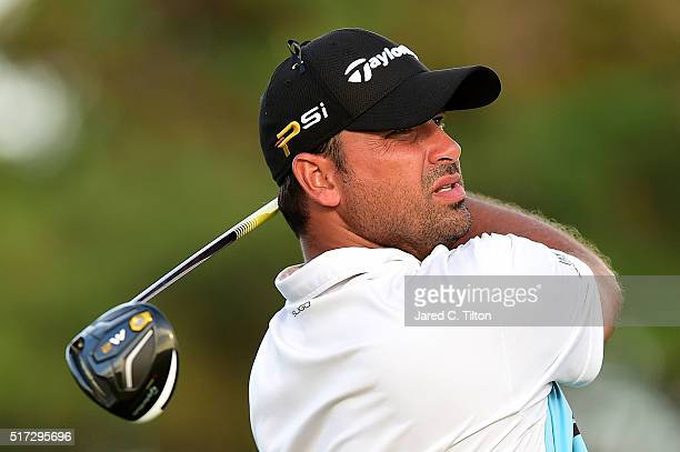 Rafael Campos of Puerto Rico tees off on the 18th hole during the first round of the Puerto Rico Open at Coco Beach on March 24 2016 in Rio Grande...