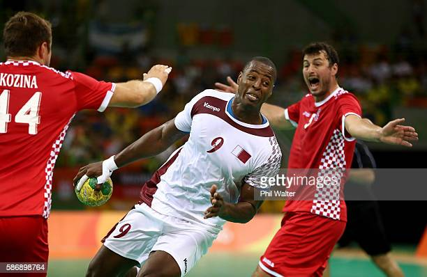 Rafael Capote of Qatar controls the ball during the Men's Preliminary Group A match between Croatia and Qatar on Day 2 of the Rio 2016 Olympic G
