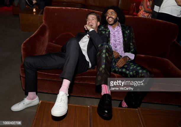 Rafael Casal and Daveed Diggs attend the afterparty for the screening of Blindspotting hosted by Lionsgate at Public Arts on July 16 2018 in New York...