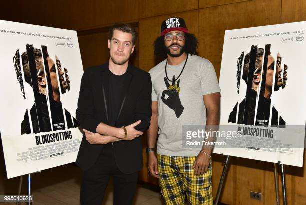 Rafael Casal and Daveed Diggs pose for portrait at the screening of Summit Entertainment's Blindspotting QA at Bing Theatre At LACMA on July 9 2018...