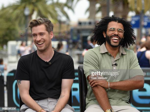 Rafael Casal and Daveed Diggs visit 'Extra' at Universal Studios Hollywood on July 10 2018 in Universal City California