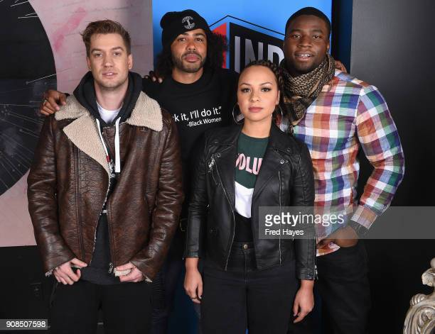 Rafael Casal Daveed Diggs and Jasmine Cephas Jones attend the SAGindie Actors Only Brunch during the 2018 Sundance Film Festival on January 21 2018...