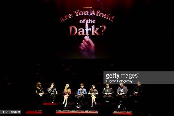 Rafael Casal, Lyliana Wray, Sam Ashe Arnold, Miya Cech, Jeremy Ray Taylor, BenDavid Grabinski, and Matt Kaplan speak onstage during Nickelodeon's Are...