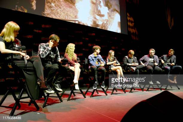 Rafael Casal, Lyliana Wray, Sam Ashe Arnold, Miya Cech, Jeremy Ray Taylor, BenDavid Grabinski, and Matt Kaplan speak onstage during Nickelodeon's Are...