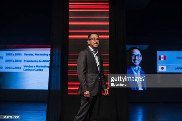 Rafael Chang, chief executive officer of Brazil operations at Toyota Motor Corp., speaks during a launch event for the new2018 Toyota Corolla...