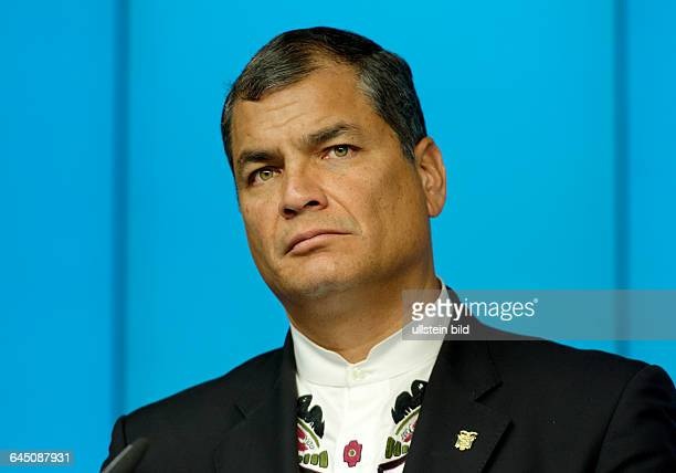 Rafael CORREA president of Ecuador during EUCELAC summit