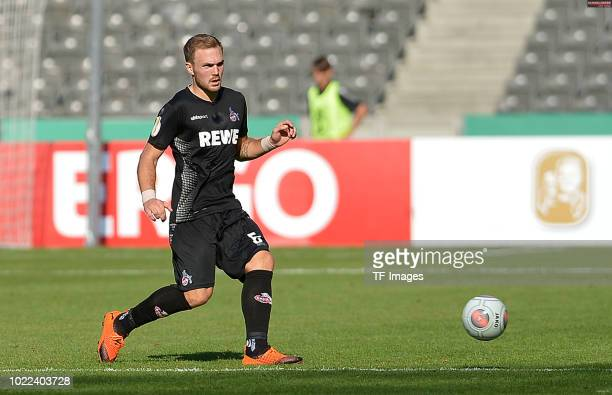 Rafael Czichos of FC Koeln controls the ball during the DFB Cup first round match between BFC Dynamo and 1 FC Koeln at Olympiastadion on August 19...