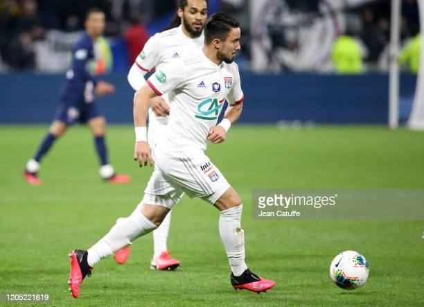 Rafael Da Silva of Lyon during the French Cup semifinal match between Olympique Lyonnais and Paris Saint-Germain at Groupama Stadium on March 4, 2020...