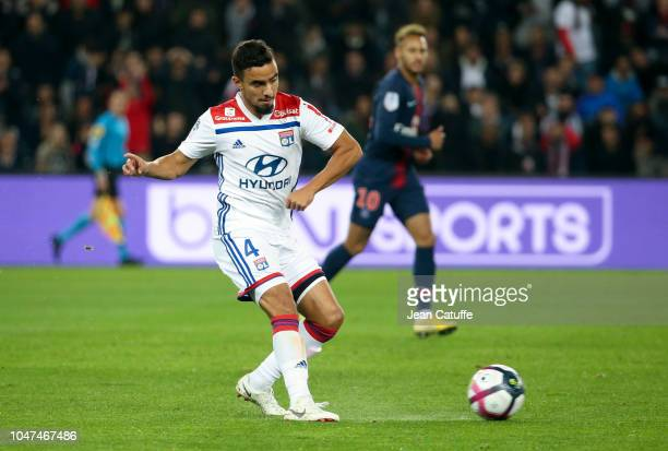 Rafael Da Silva of Lyon during the french Ligue 1 match between Paris Saint-Germain and Olympique Lyonnais at Parc des Princes stadium on October 7,...