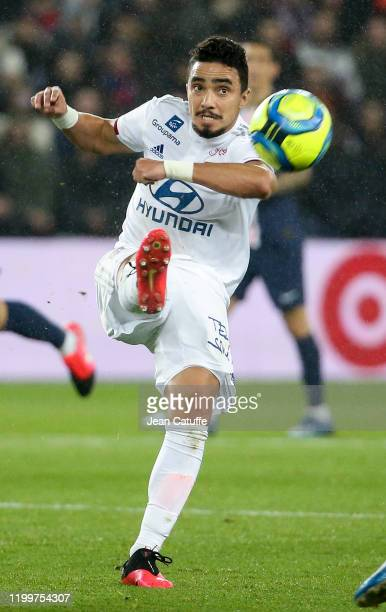 Rafael Da Silva of Lyon during the Ligue 1 match between Paris Saint-Germain and Olympique Lyonnais at Parc des Princes stadium on February 9, 2020...