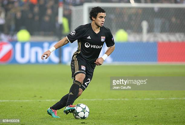 Rafael da Silva of Lyon in action during the UEFA Champions League match between Olympique Lyonnais and Sevilla FC at Parc OL on December 7 2016 in...