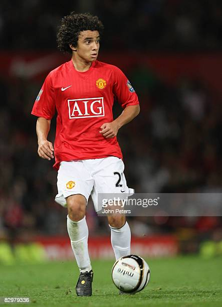 Rafael Da Silva of Manchester United in action during the Carling Cup match between Manchester United and Middlesbrough at Old Trafford on September...
