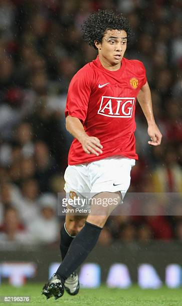 Rafael Da Silva of Manchester United in action during the pre-season friendly match between Manchester United and Juventus at Old Trafford on August...