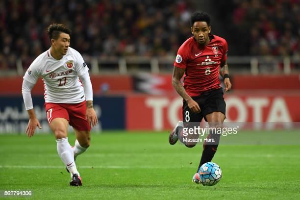 Rafael Da Silva of Urawa Red Diamonds in action during the AFC Champions League semi final second leg match between Urawa Red Diamonds and Shanghai...